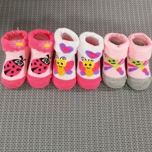 Girls bootie socks size 0-6m